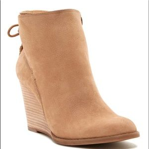 Lucky Brand Yamuna Brown Wedge Ankle Boot 9.5